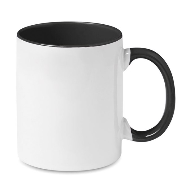 Coloured sublimation mug Sublimcoly - Black