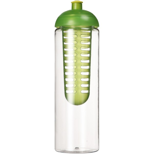 H2O Vibe 850 ml lahev s infuzérem a kupolovitým víčkem - Průhledná / Limetka