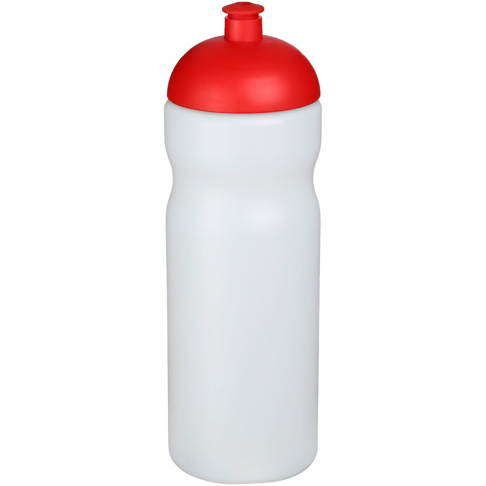 Baseline® Plus 650 ml dome lid sport bottle - Transparent / Red