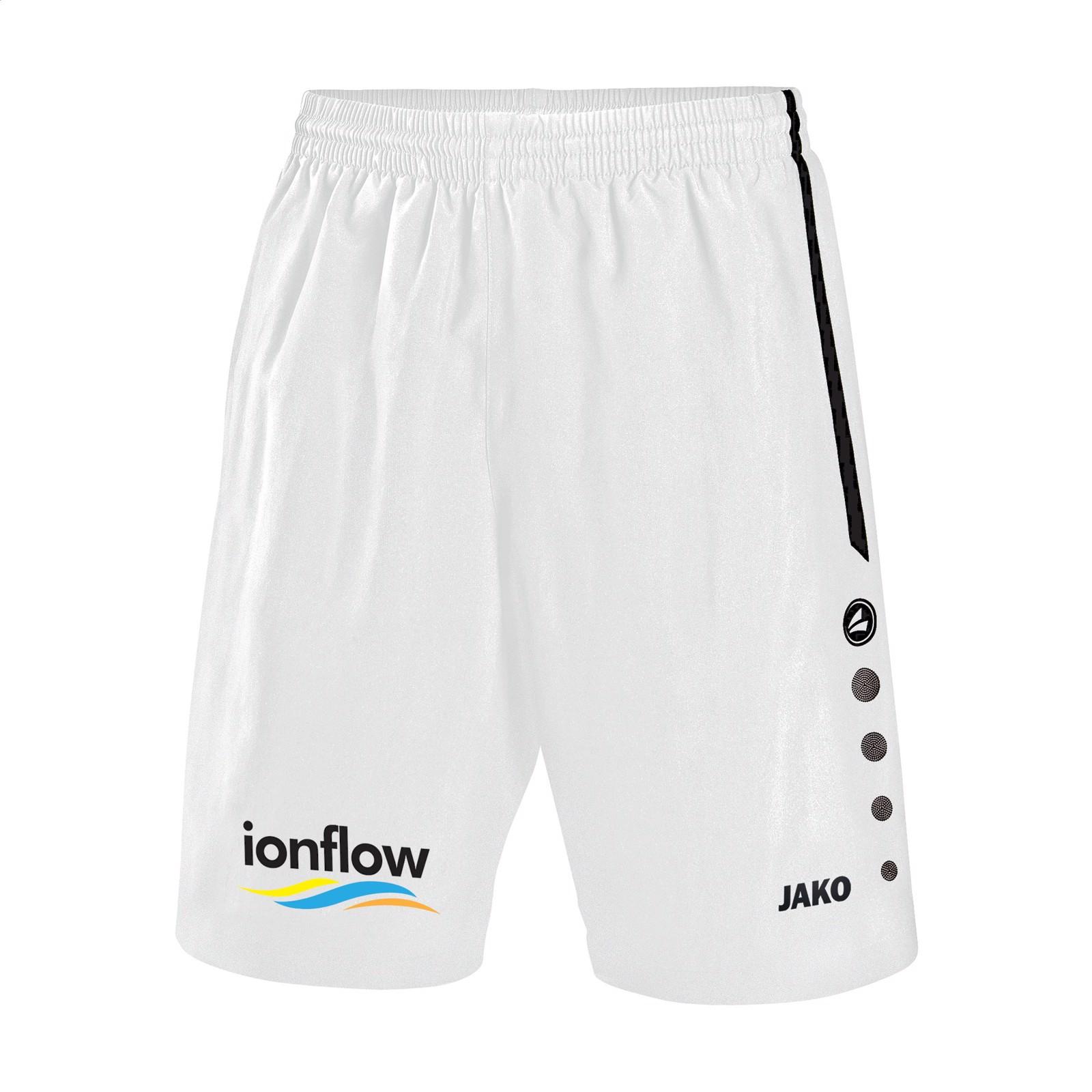 Jako® Short Turin Kids sportspants - White / Black / 164