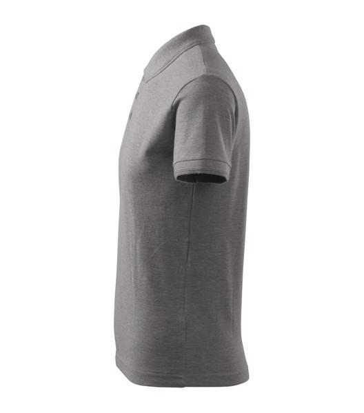 Polo Shirt men's Malfini Pique Polo - Dark Gray Melange / 4XL