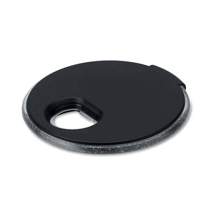 Podkładka pod kubek- otwieracz Coaster Light - czarny