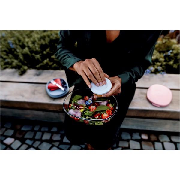 Ellipse salátová nádoba - Červená s efektem námrazy