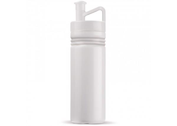 Sports bottle ergonomic 500ml - White / White