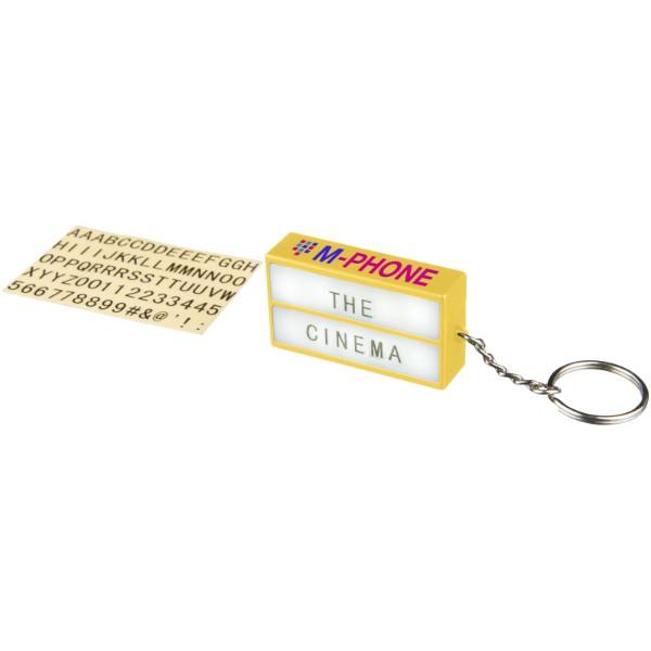 Cinema LED keychain light - Yellow