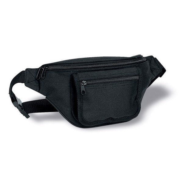 Waist bag with pocket Frubi - Black