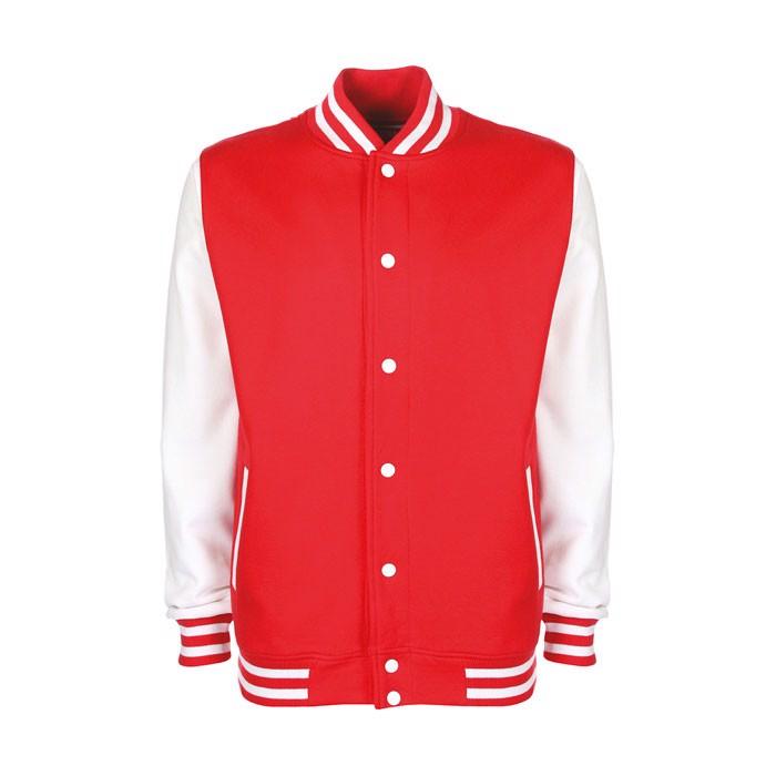 Unisex jacket 300 g/m2 Varsity Jacket Fv001 - Red / White / XXL