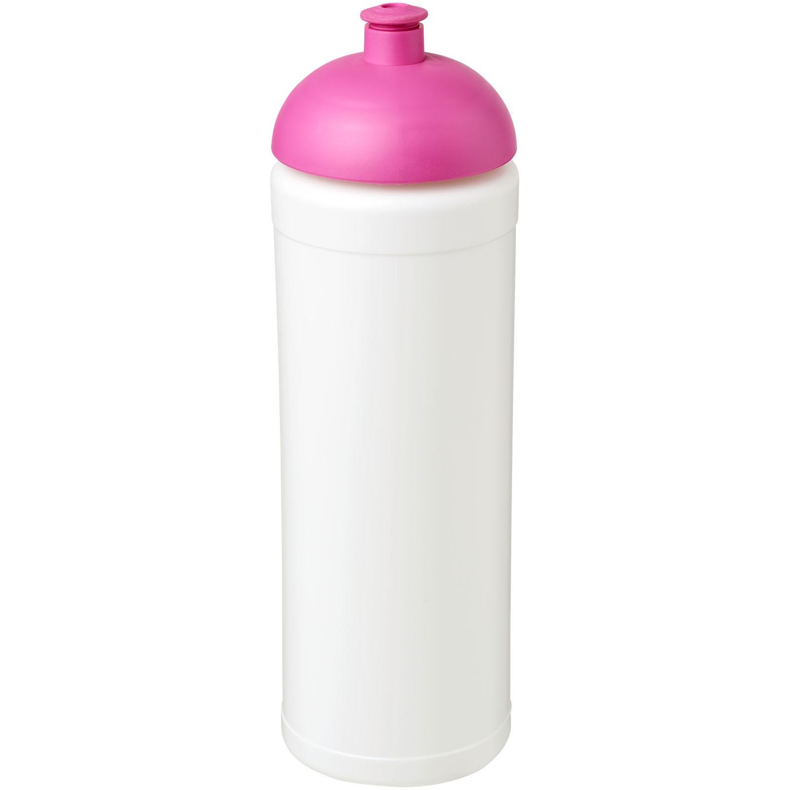 Sportovní láhev s kupolovitým víčkem Baseline® Plus grip 750 ml - Bílá / Růžová