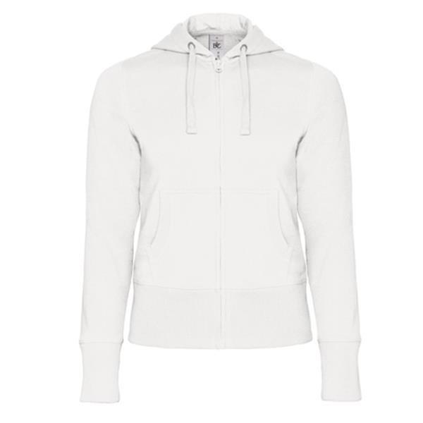 Hooded Full Zip Women - Branco / S