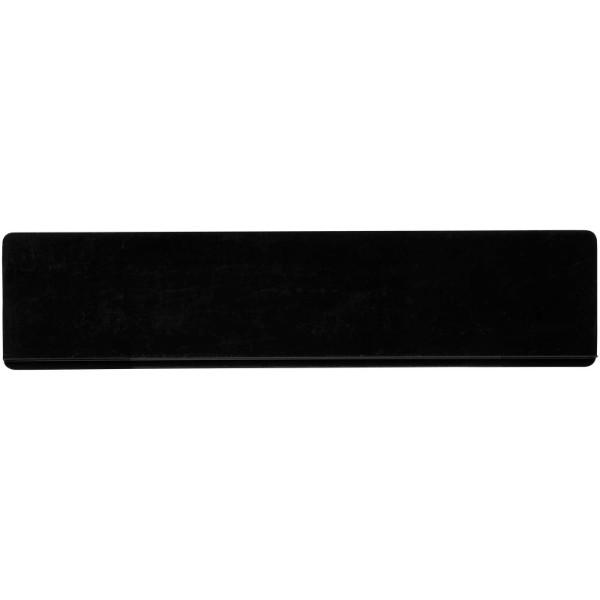 Renzo 15 cm plastic ruler - Solid black