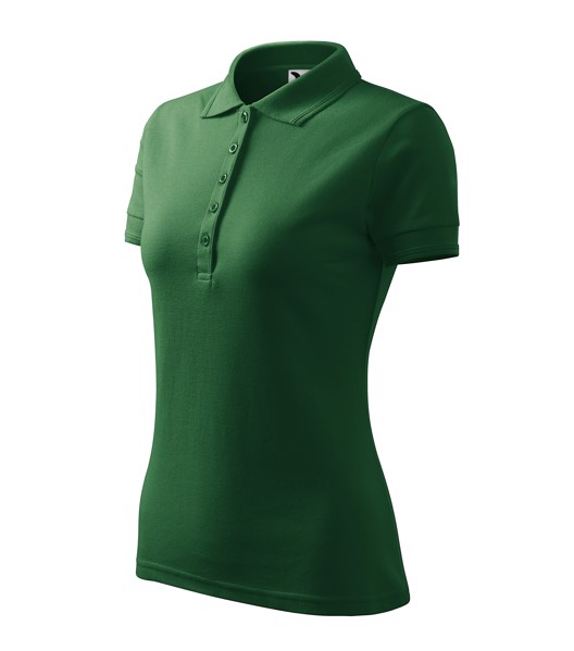 Polo Shirt Ladies Malfini Pique Polo - Bottle Green / XL