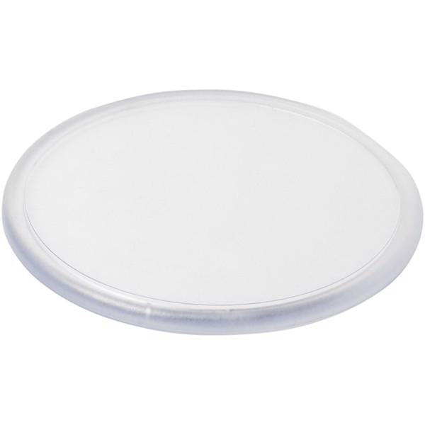 Ellison round plastic coaster with paper insert