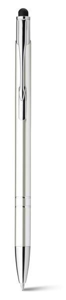 GALBA. Hliníkové kuličkové pero - Bílá