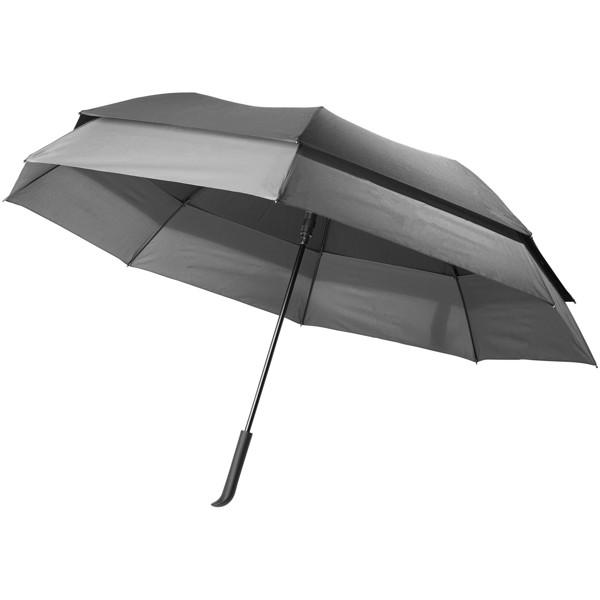 "Heidi 23"" to 30"" expanding auto open umbrella - Dark grey / Solid black"