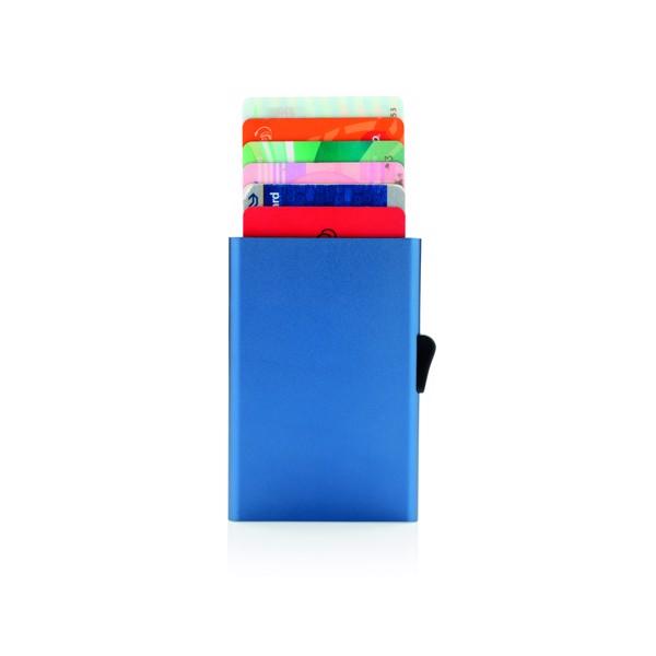 RFID pouzdro C-Secure na karty - Modrá