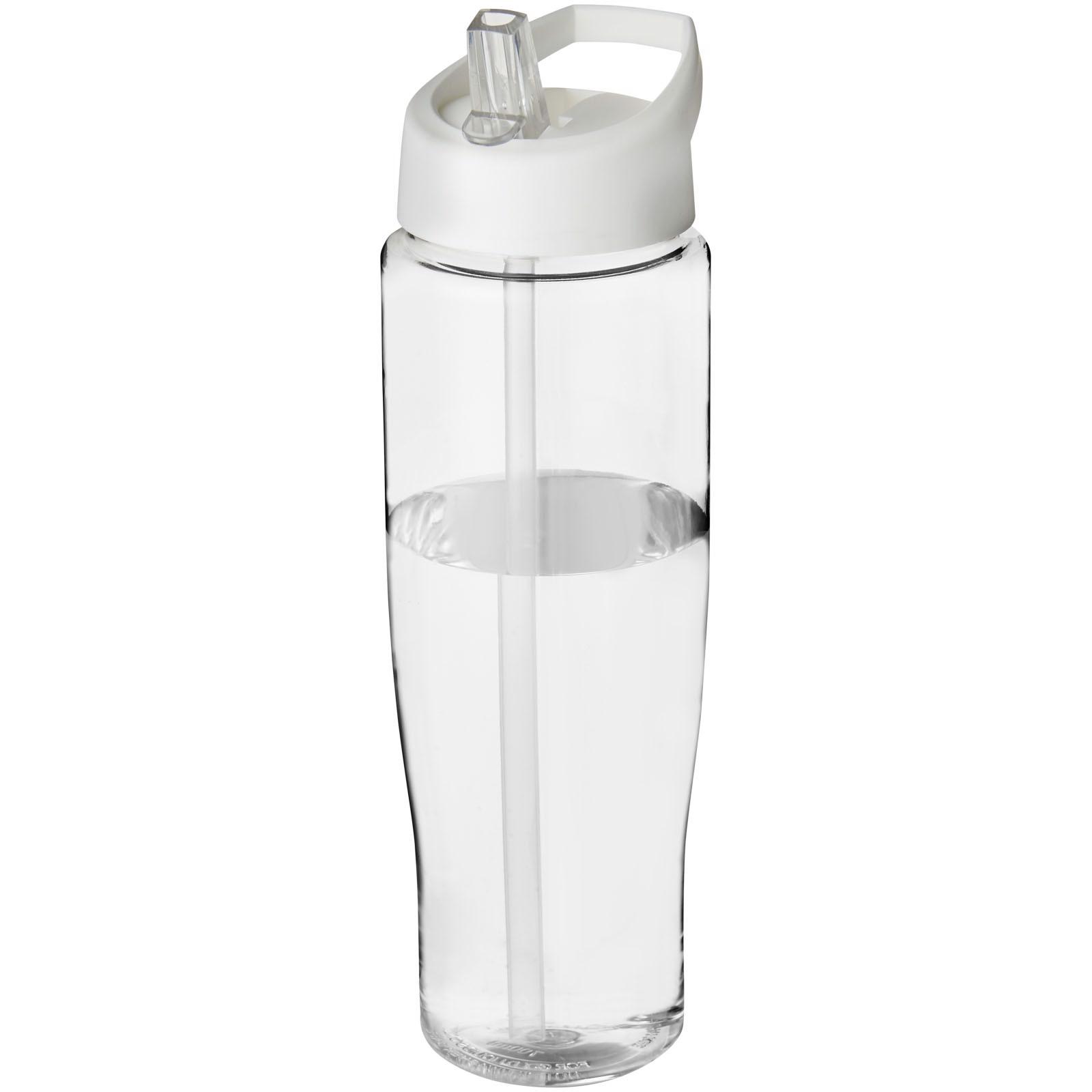 H2O Tempo® 700 ml spout lid sport bottle - Transparent / White