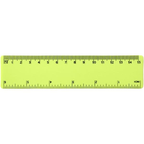 Rothko 15 cm plastic ruler - Lime