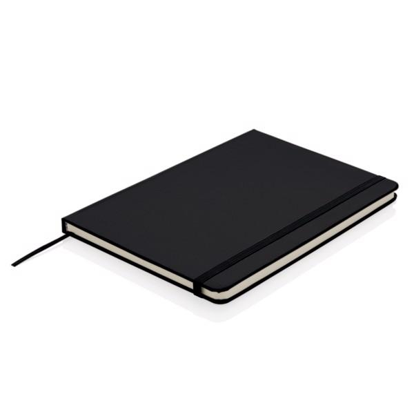 Basic keményfedelű A5-ös jegyzetfüzet - Fekete