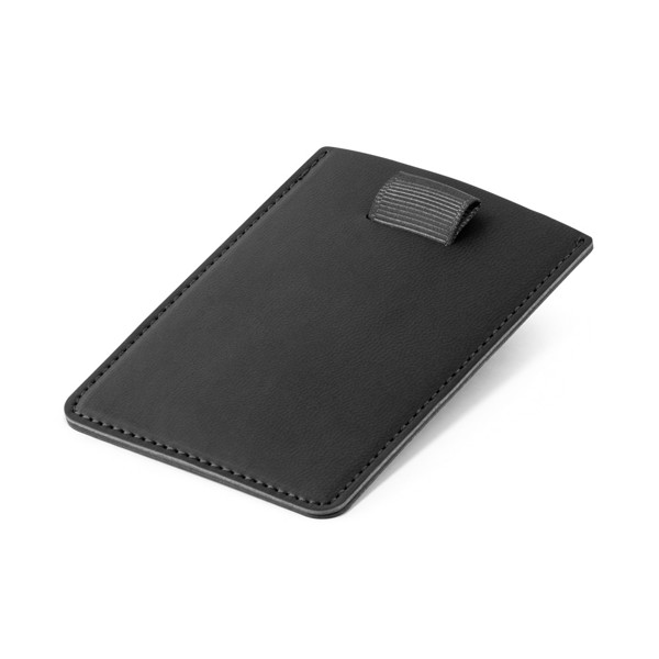 POPPY. RFID blocking card holder - Black