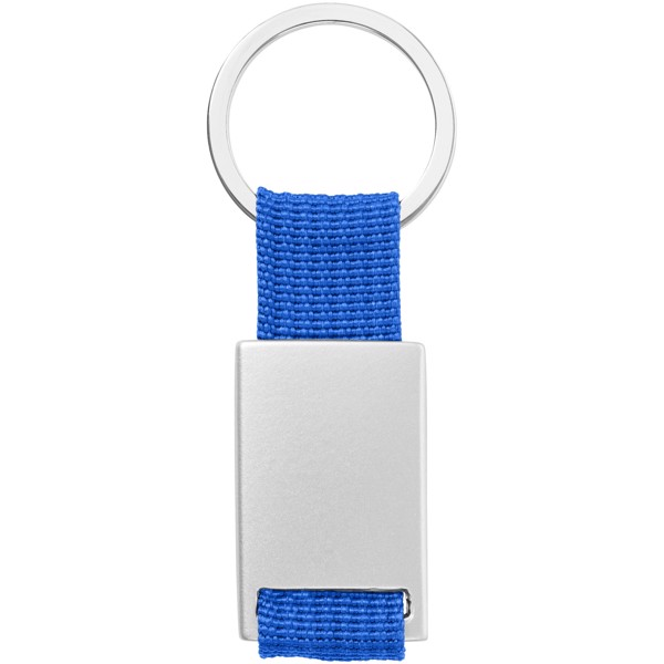 Alvaro webbing keychain - Royal blue / Silver