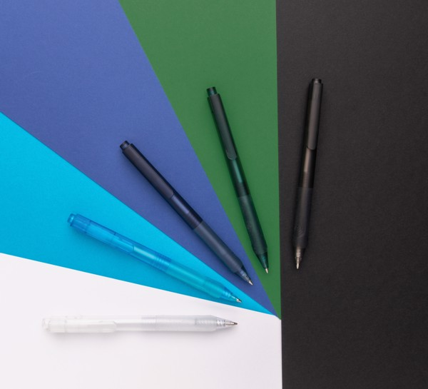 X9 frosted pen with silicone grip - White