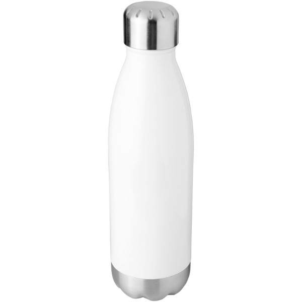 Arsenal 510 ml vacuum insulated bottle - White