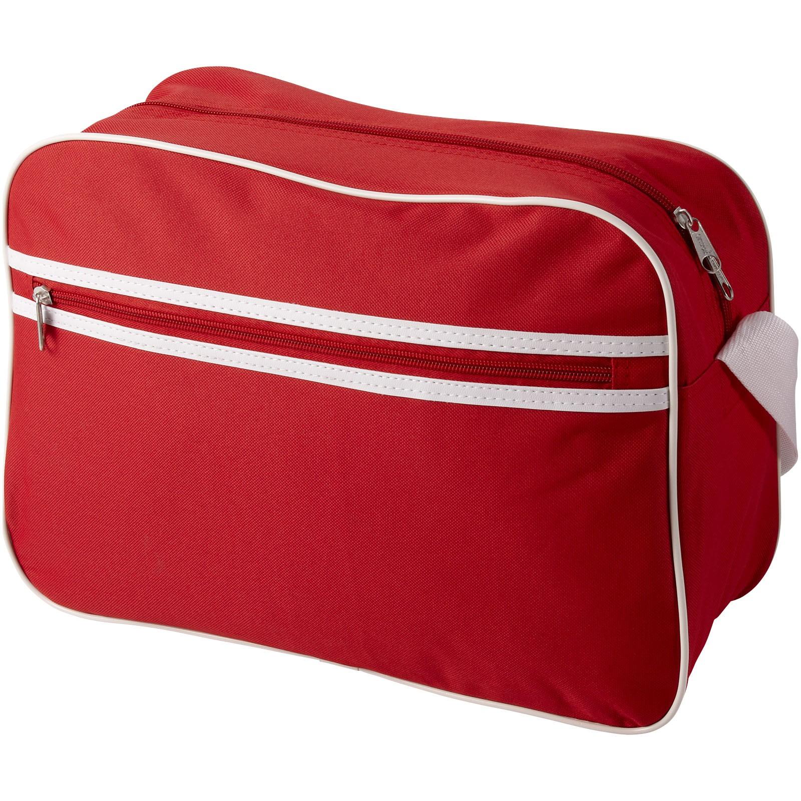 Taška přes rameno Sacramento - Červená s efektem námrazy / Bílá