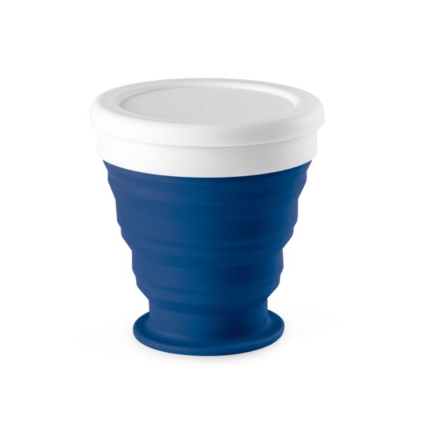 ASTRADA. Foldable travel cup 250 ml - Blue