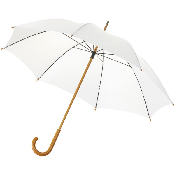 "Jova 23"" umbrella with wooden shaft and handle - White"
