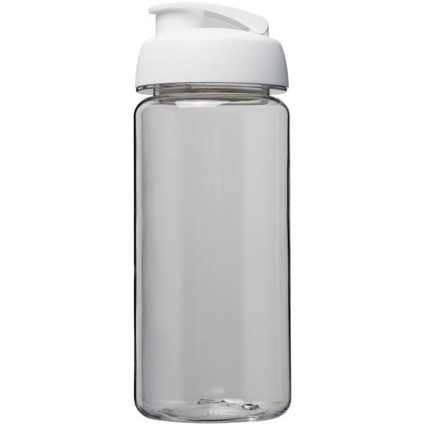 Sportovní láhev s vyklápěcím víčkem Octave Tritan™ 600 ml - Průhledná / Bílá