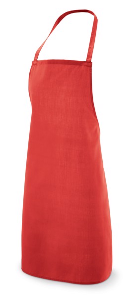 CURRY. Apron in cotton and polyester - Red