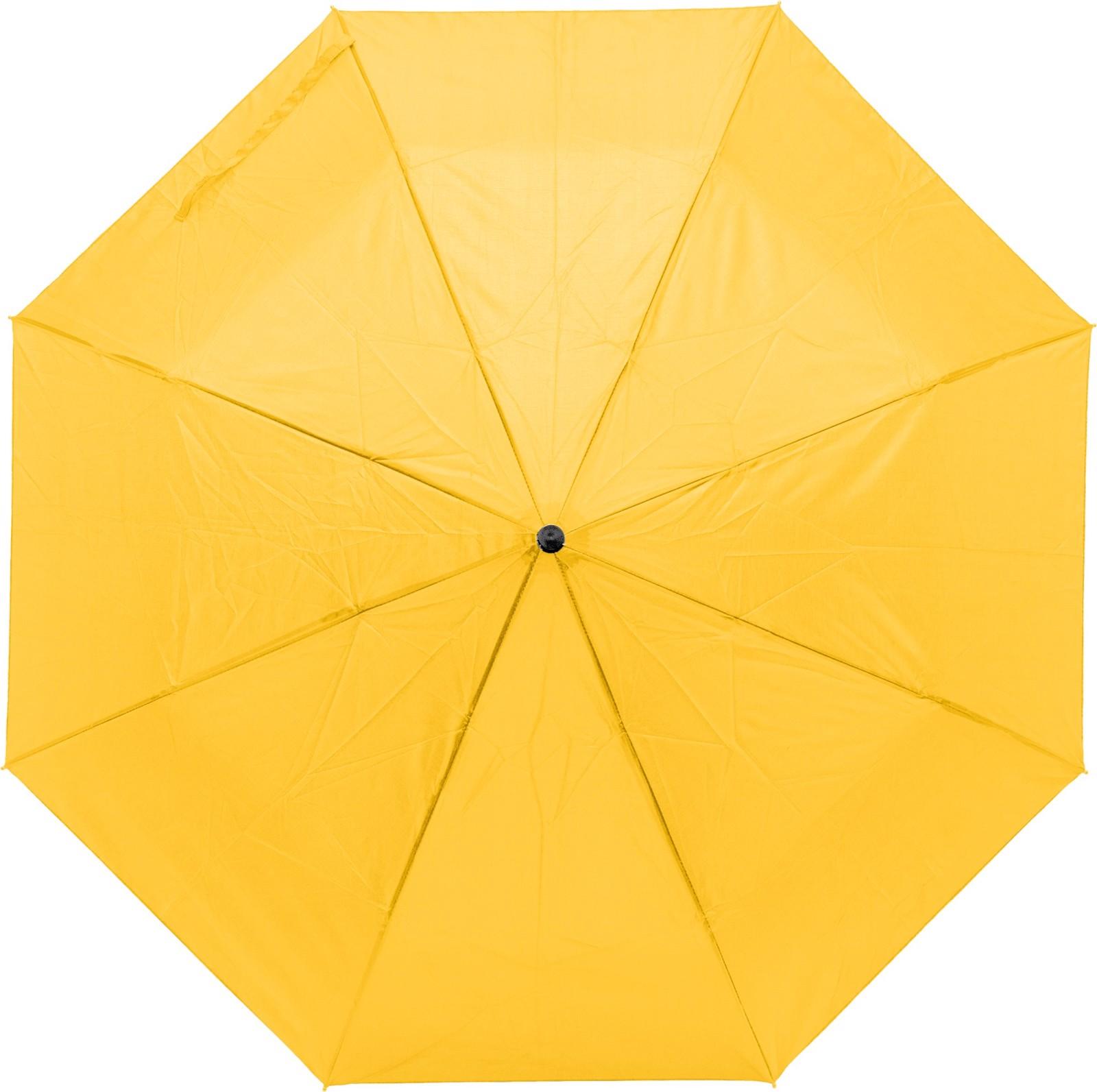 Pongee (190T) umbrella - Yellow