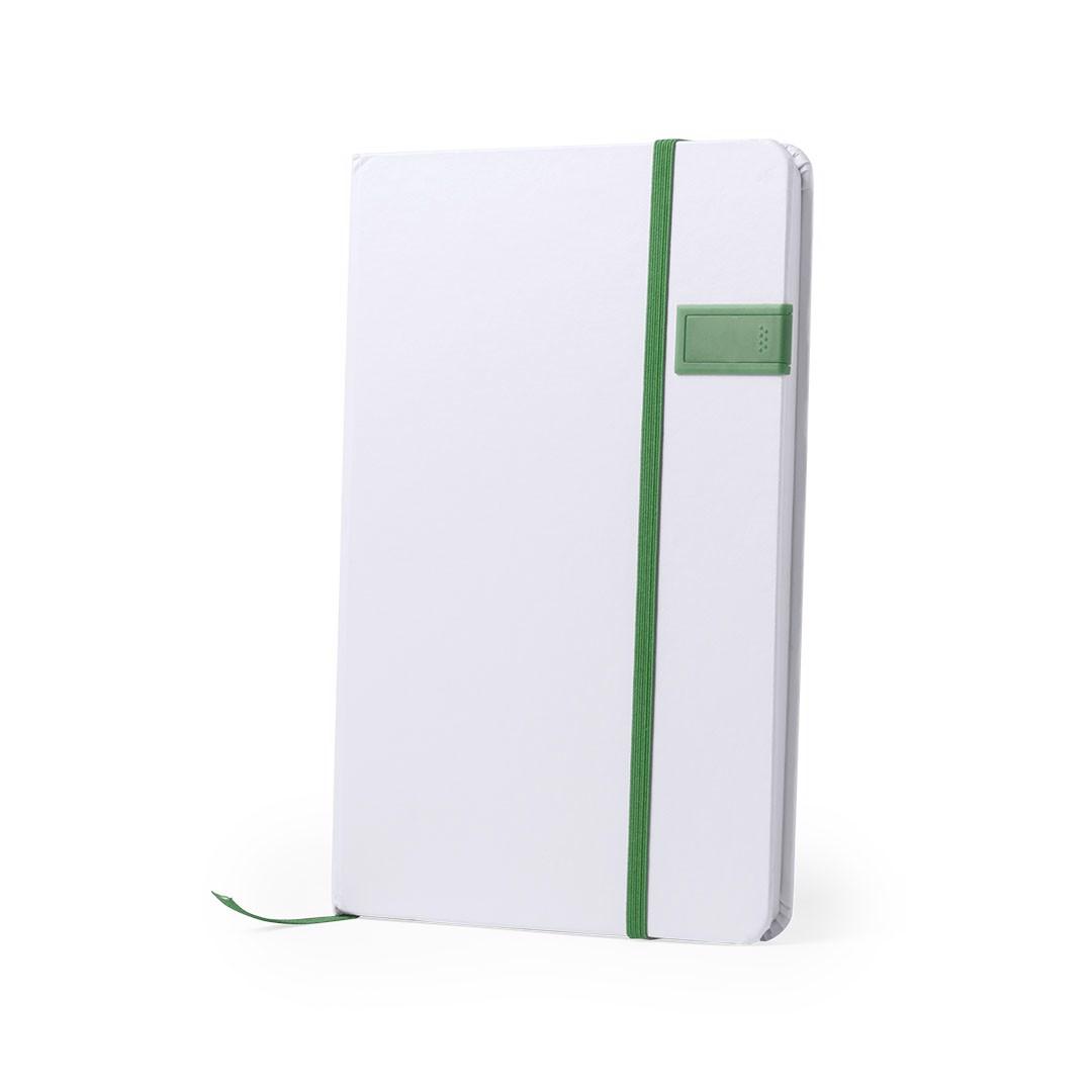 Bloco de Notas USB Boltuk - Verde