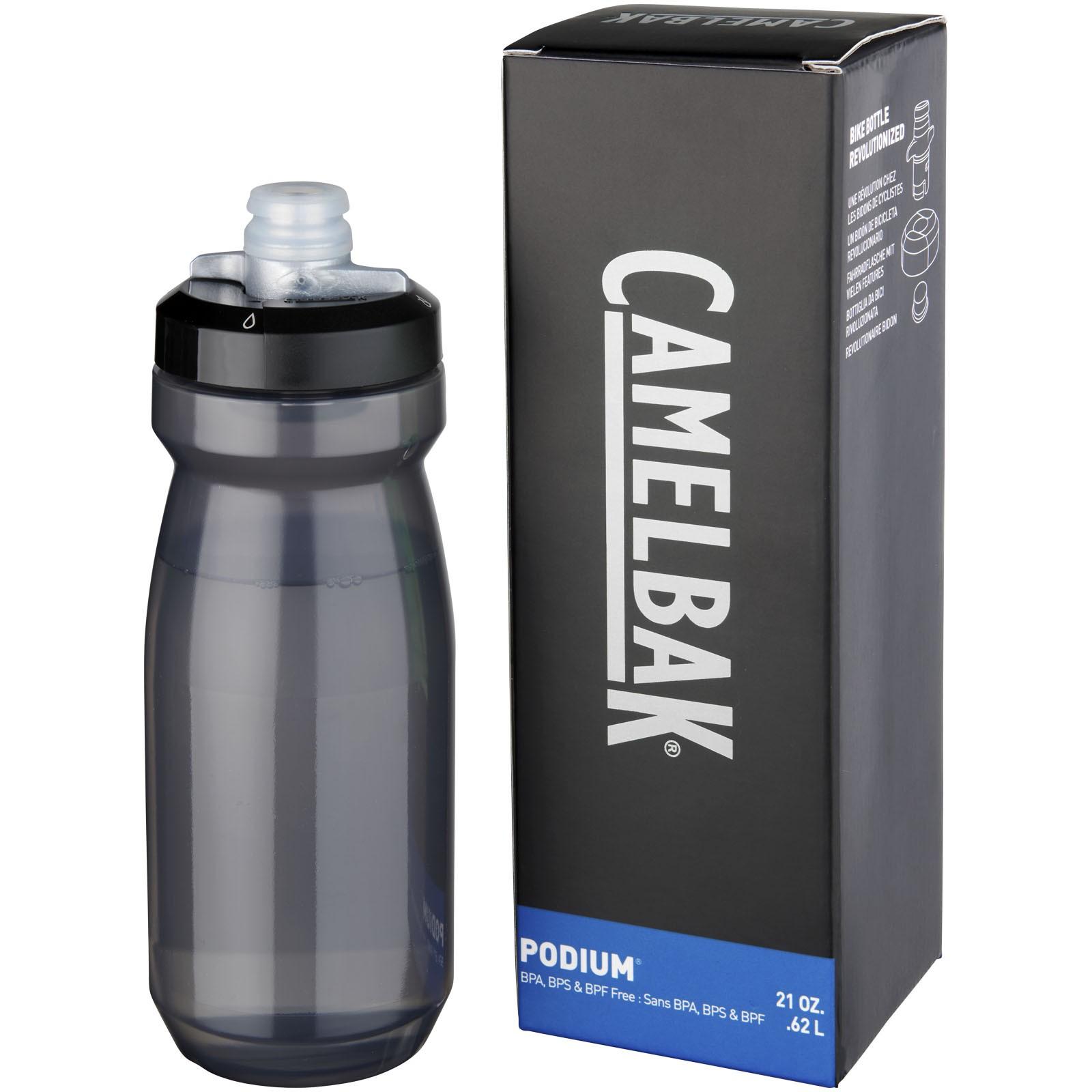 Sportovní láhev Podium 620 ml - Transparentní černá