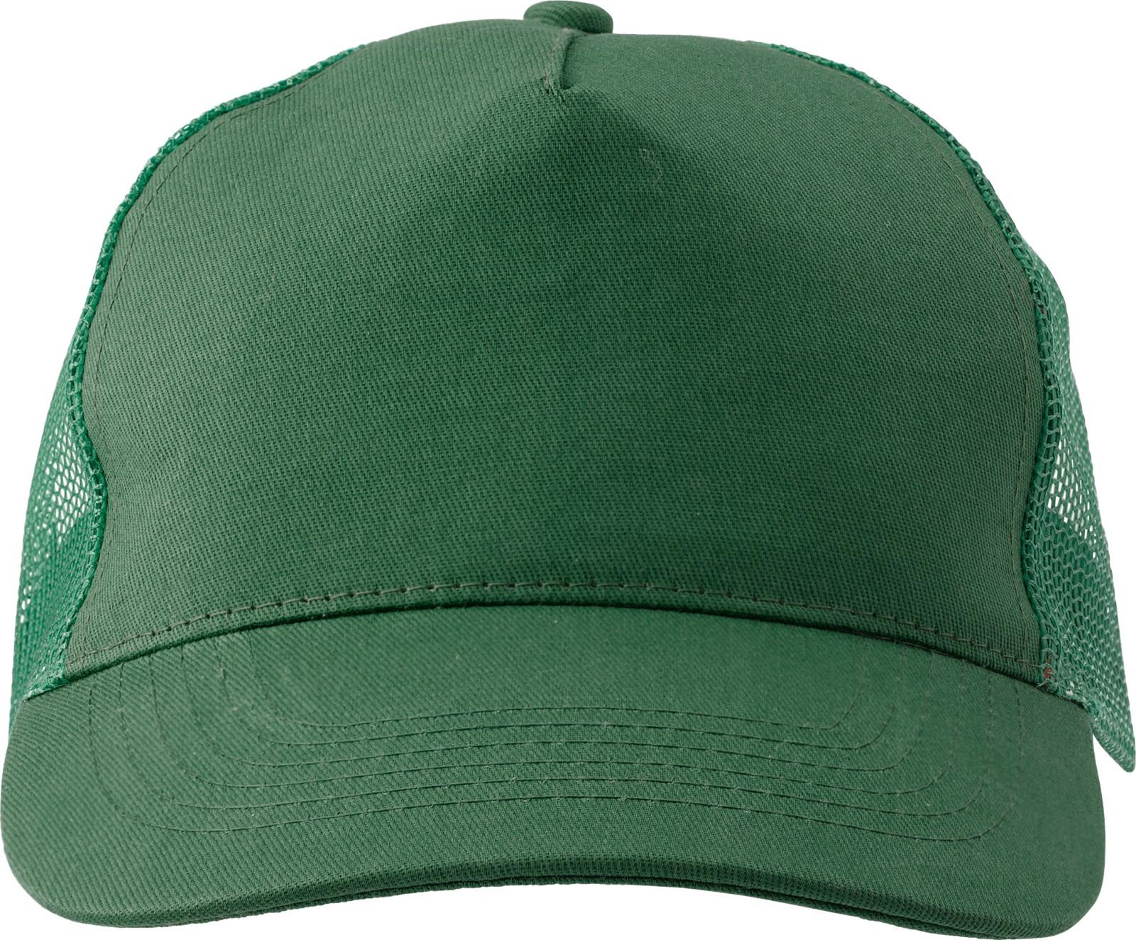 Cotton twill and plastic cap - Green