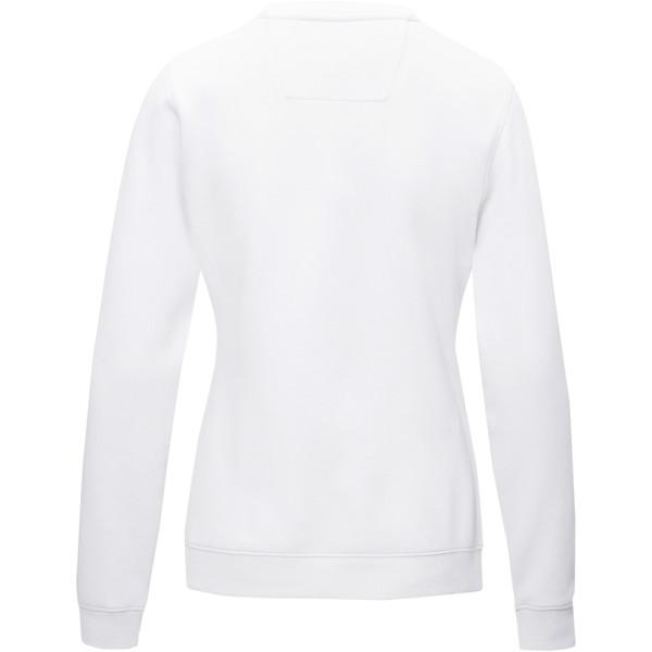 """Jersey de cuello redondo de GRS reciclado orgánico GOTS para mujer """"Jasper"""" - Blanco / XS"""