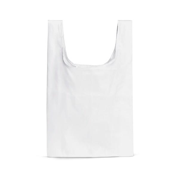 PLAKA. Foldable bag in 210D - White
