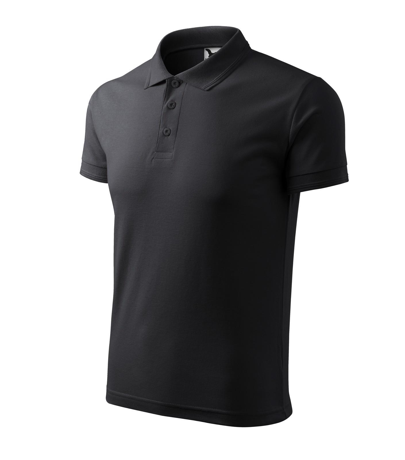 Polo Shirt men's Malfini Pique Polo - Ebony Gray / 3XL