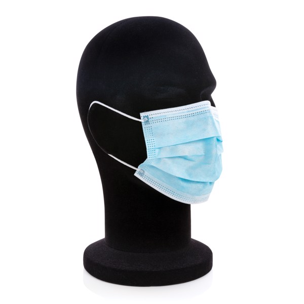 50 PCS. 3-ply disposable mask incl. customised sleeve