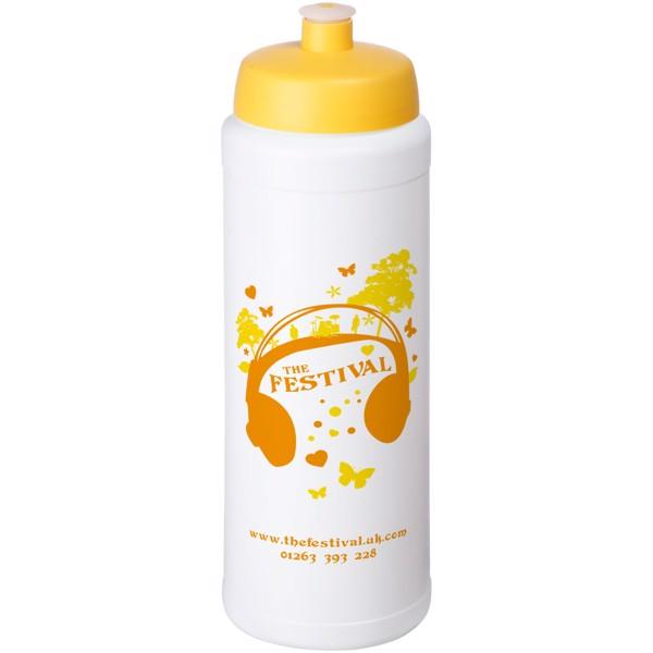 Baseline® Plus grip 750 ml sports lid sport bottle - White / Yellow
