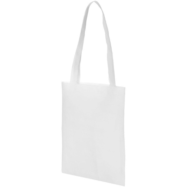 Eros small non-woven convention tote bag - White