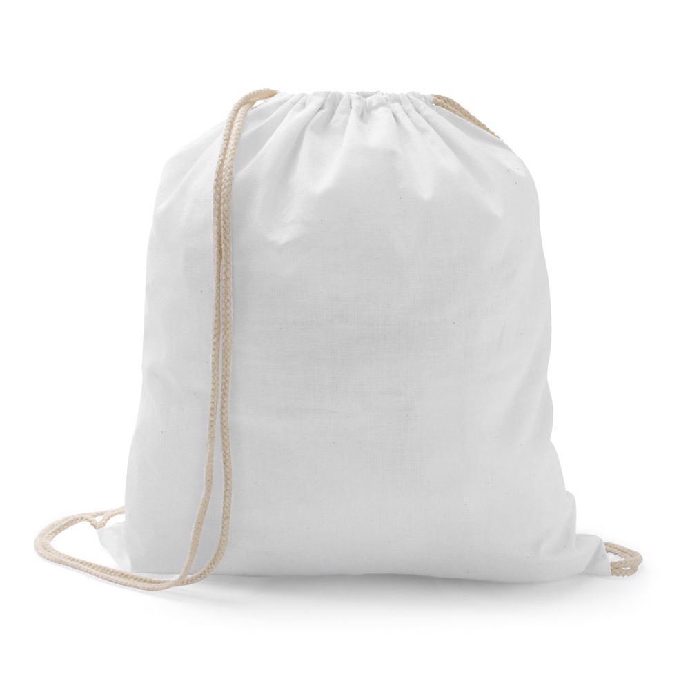 ILFORD. 100% cotton drawstring bag - White