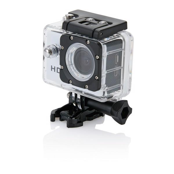 Action camera inc 11 accessories - White / Black