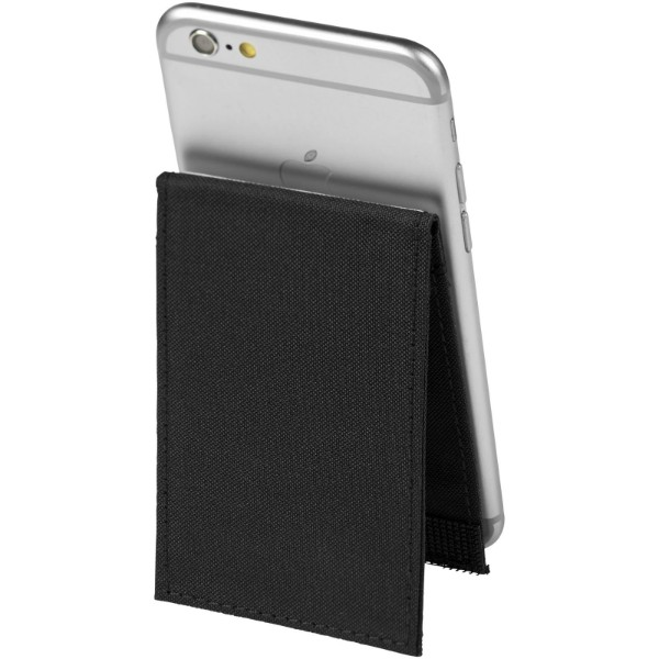 Pose RFID phone wallet with stand - Solid black