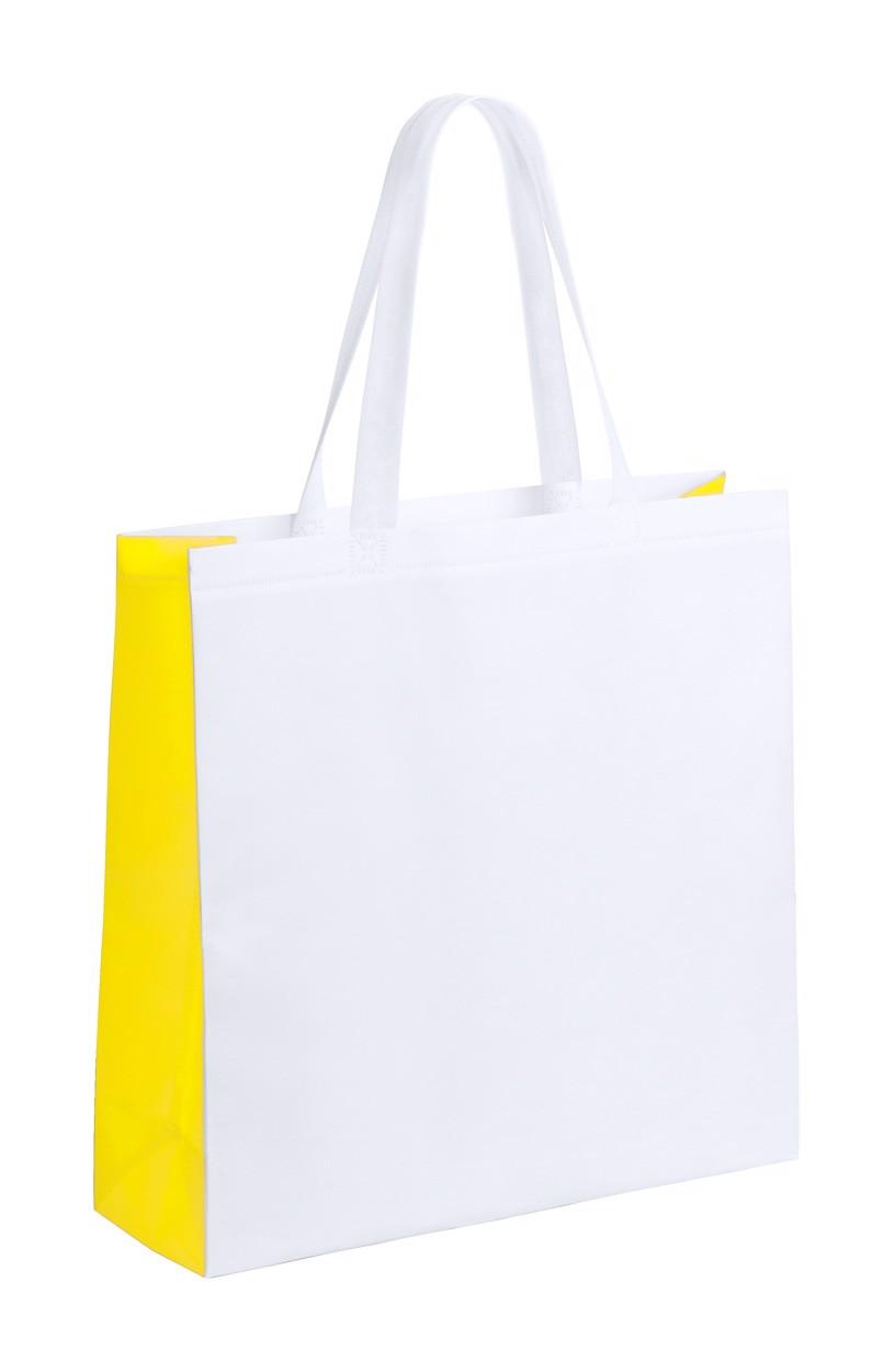 Nákupní Taška Decal - Bílá / Žlutá