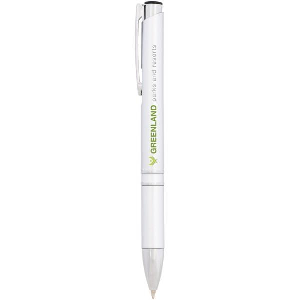Moneta ABS kuličkové pero - Stříbrný