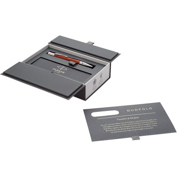 Kuličkové pero Duofold Premium - Červená s efektem námrazy / Stříbrný