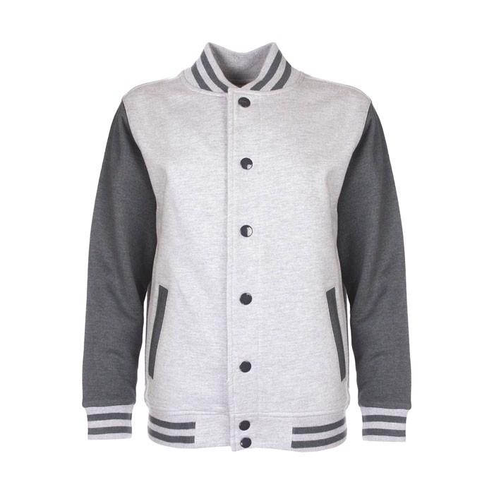 Kids Sweatshirt 300 g/m2 Junior Varsity Jacket Fv002 - Sport Grey / XL
