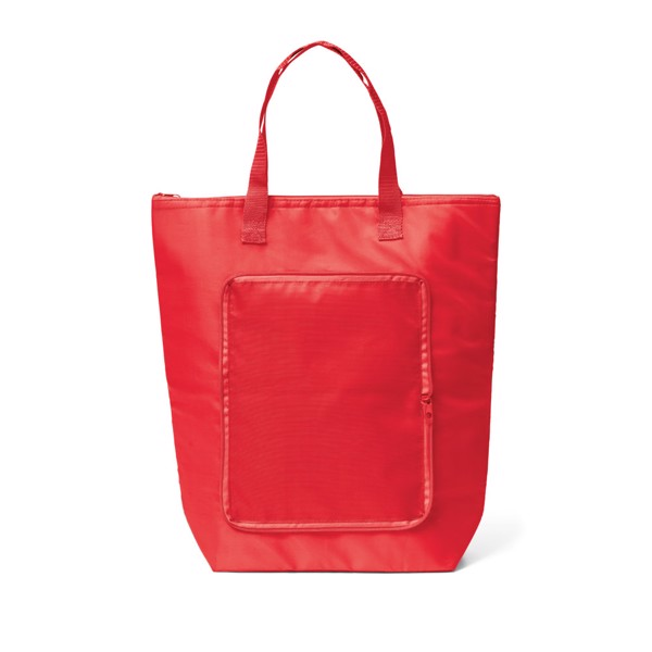 MAYFAIR. Foldable cooler bag - Red