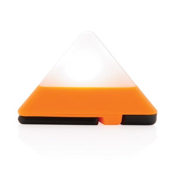 Trojúhelníková mini svítilna - Oranžová